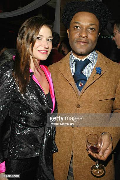 Randle Doss and Ike Ude attend An Intimate Evening of Food Fashion and Gossip with the Inimitable Jackie Rogers at Jour et Nuit on March 26 2007 in...