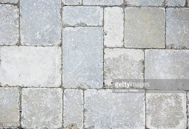 Random paving bricks.