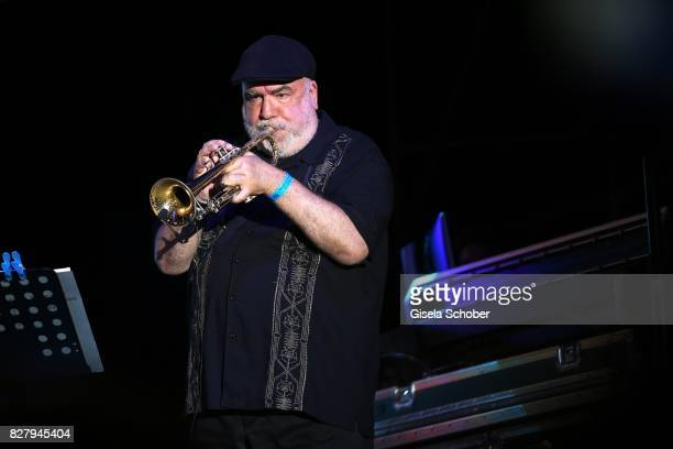 Randy Brecker performs at the Man Doki Soulmates concert during the Sziget Festival at Budapest Park on August 8 2017 in Budapest Hungary The Sziget...