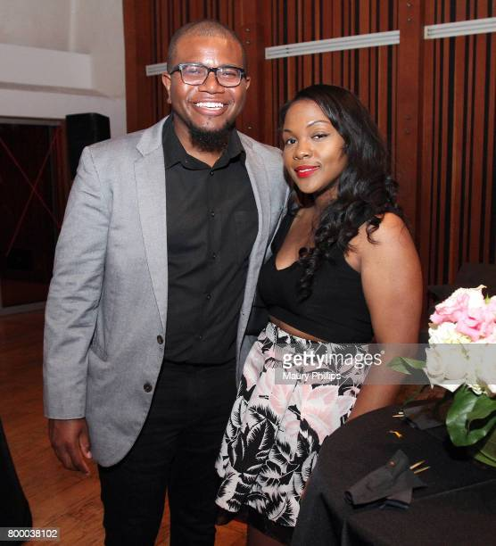 Randy C Bonds and Em Jai attend the National Museum of African America Music presented by Los Angeles Salon at Henson Recording Studio on June 22...