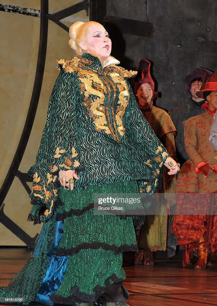 Randy Danson as 'Madame Morrible' as Willemijn Verkaik makes her Broadway Debut In 'Wicked' On Broadway at The Gershwin Theatre on February 12, 2013 in New York City.