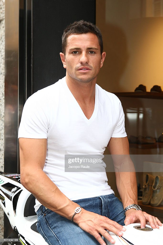 Randy De Puniet attends Lumberjack Flagship Store Opening on June 8, 2010 in Milan, Italy.
