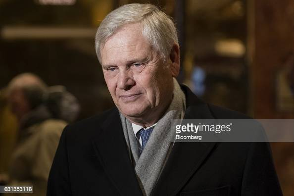 Randy Falco president and chief executive officer of Univision Communications Inc speaks to members of the media in the lobby of Trump Tower in New...