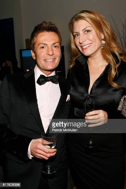 Randy Fenoli and Genevieve Gorder attend Time Warner Cable Celebrated The Launch of New Signaturehome Suite of Services at The SignatureHome on...