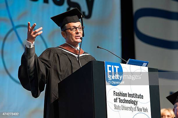 Randy Fenoli speaks onstage during the Fashion Institute of Technology Commencement 2015 at the Jacob K Javits Convention Center on May 21 2015 in...