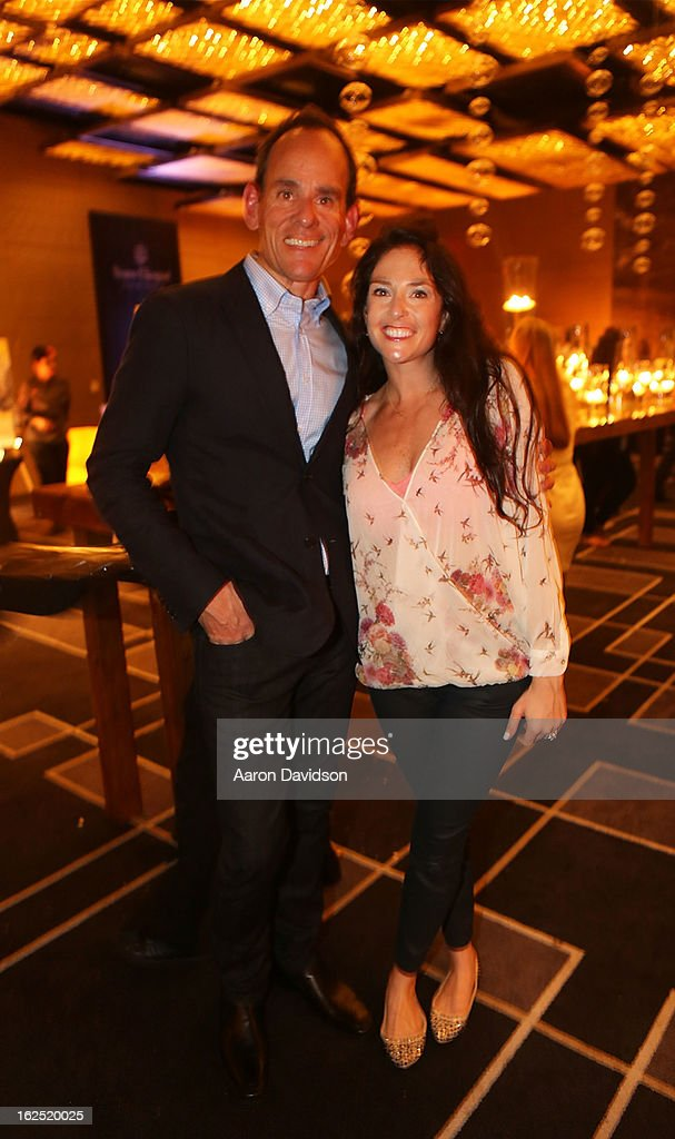 Randy Fisher and Kali Bensaadon attend Chicken Coupe Dinner at W South Beach Hotel & Residences on February 23, 2013 in Miami Beach, Florida.