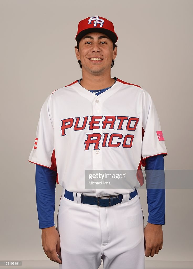 Randy Fontanez #33 of Team Puerto Rico poses for a headshot for the 2013 World Baseball Classic at the City of Palms Baseball Complex on Monday, March 4, 2013 in Fort Myers, Florida.