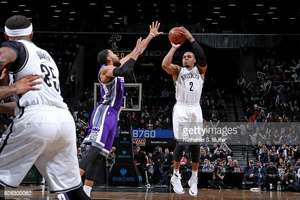 Randy Foye of the Brooklyn Nets shoots the ball against the Sacramento Kings on November 27 2016 at Barclays Center in Brooklyn NY NOTE TO USER User...