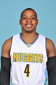 Randy Foye of the Denver Nuggets poses for a head shot on September 28 2015 at the Pepsi Center in Denver Colorado NOTE TO USER User expressly...