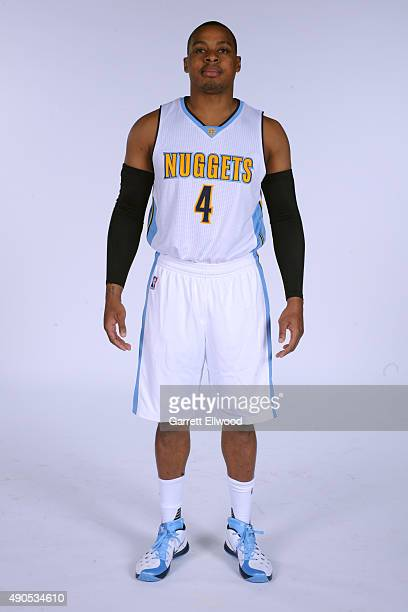Randy Foye of the Denver Nuggets poses for a portrait on September 28 2015 at the Pepsi Center in Denver Colorado NOTE TO USER User expressly...