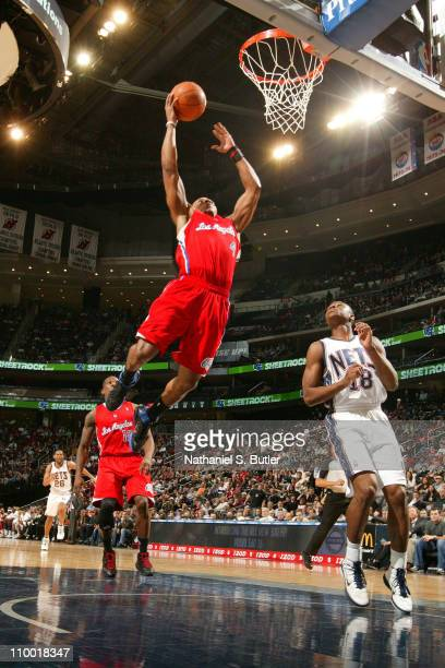 Randy Foye of the Los Angeles Clippers shoots against the New Jersey Nets on March 11 2011 at Prudential Center in Newark New Jersey NOTE TO USER...