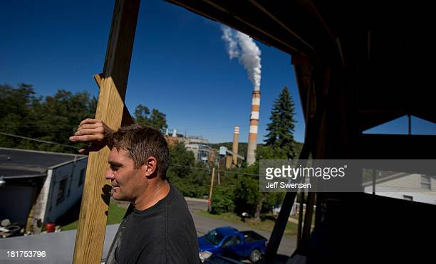 Randy Geracitano remodels a home up the hill from the Mitchell Power Station a coalfired power plant built along the Monongahela River 20 miles...