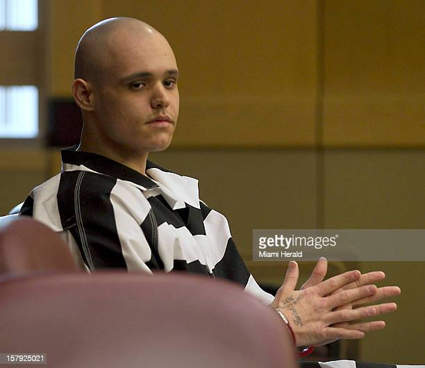 Randy H Tundidor Jr apologizes to Linda Morrissey wife of victim Joseph Morrissey during his sentencing in Broward County Criminal Court in Ft...