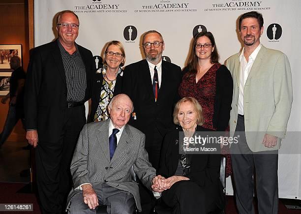 Randy HaberkampAnnette Melville Norman Lloyd Frank Stark Eva Marie Saint Leslie Anne Lewis and Michael Pogorzelski attend The Academy Of Motion...