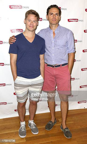 Randy Harrison and Paul Anthony Stewart attends the 'Harbor' cast photo call at Primary Stages Rehearsal Studio on July 11 2013 in New York City