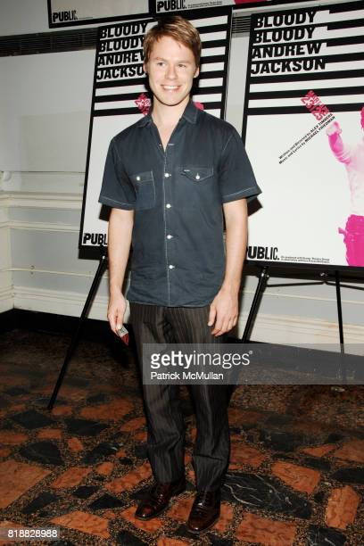 Randy Harrison attends THE PUBLIC THEATER presents the Opening Night Arrivals of BLOODY BLOODY ANDREW JACKSON at 425 Lafayette St on April 6 2010 in...