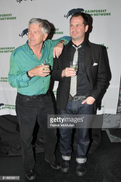 Randy Hayes and Han Shan attend RAINFOREST ACTION NETWORK's 25th Anniversary Benefit Hosted by CHRIS NOTH at Le Poisson Rouge on April 29 2010 in New...