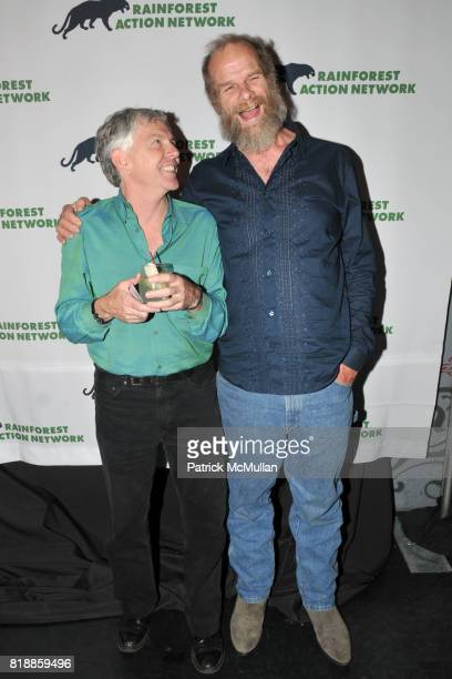 Randy Hayes and Mike Roselle attend RAINFOREST ACTION NETWORK's 25th Anniversary Benefit Hosted by CHRIS NOTH at Le Poisson Rouge on April 29 2010 in...
