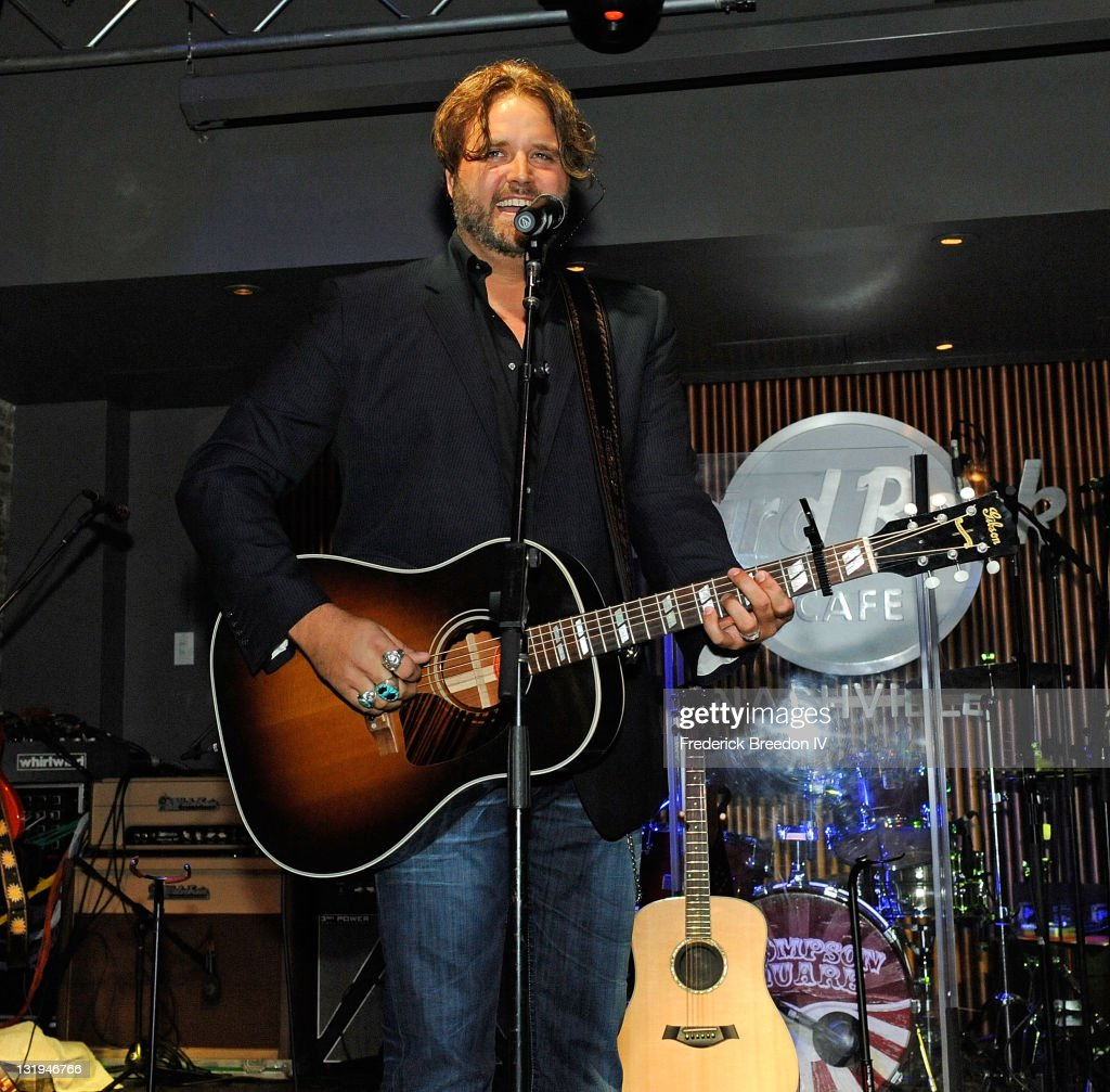 <a gi-track='captionPersonalityLinkClicked' href=/galleries/search?phrase=Randy+Houser&family=editorial&specificpeople=5348597 ng-click='$event.stopPropagation()'>Randy Houser</a> performs at the Broken Bow/Stoney Creek Records 2nd annual CMA pre-party at the Hard Rock Cafe on November 8, 2011 in Nashville, Tennessee.