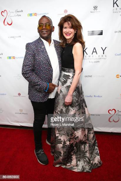 Randy Jackson and Executive Producer Elaine Mellis attend the 2017 Open Hearts Gala at SLS Hotel on October 21 2017 in Beverly Hills California