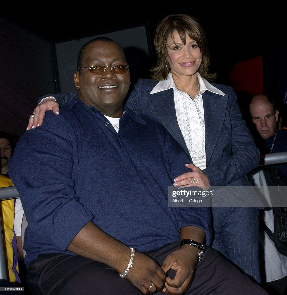 Randy Jackson and Paula Abdul during E3, Interactive Digital Software Association's 'Electronic Entertainment Expo 2003' - Day 3 at Los Angeles Convention Center in Los Angeles, California, United States.