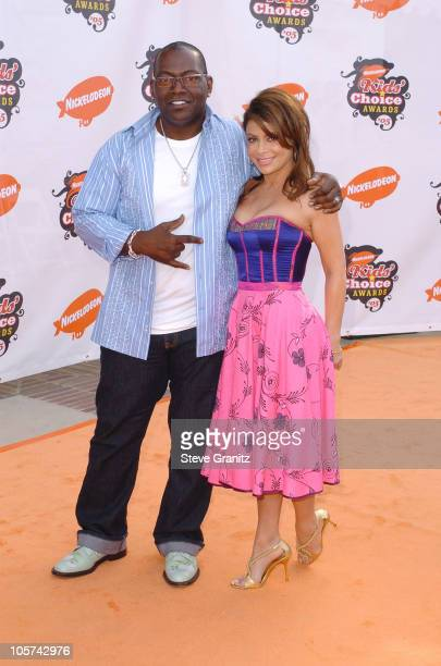 Randy Jackson and Paula Abdul during Nickelodeon's 18th Annual Kids Choice Awards Arrivals at UCLA Pauley Pavilion in Westwood California United...