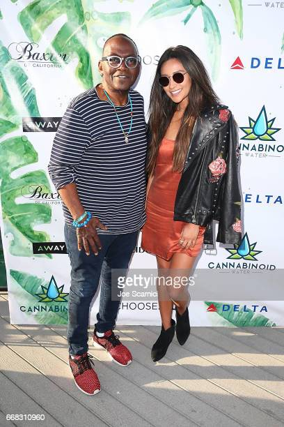 Randy Jackson and Shay Mitchell attend the KALEIDOSCOPE LAWN TALKS presented by Delta Air Lines Cannabinoid Water on April 13 2017 in La Quinta...