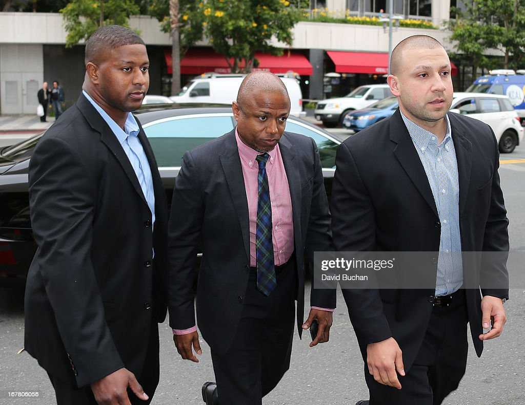 Randy Jackson (C) attends the Jackson vs AEG Court Case at the Los Angeles Superior court on April 30, 2013 in Los Angeles, California. The Jackson family has filed a wrongful death suit against AEG Live for the death of Michael Jackson.