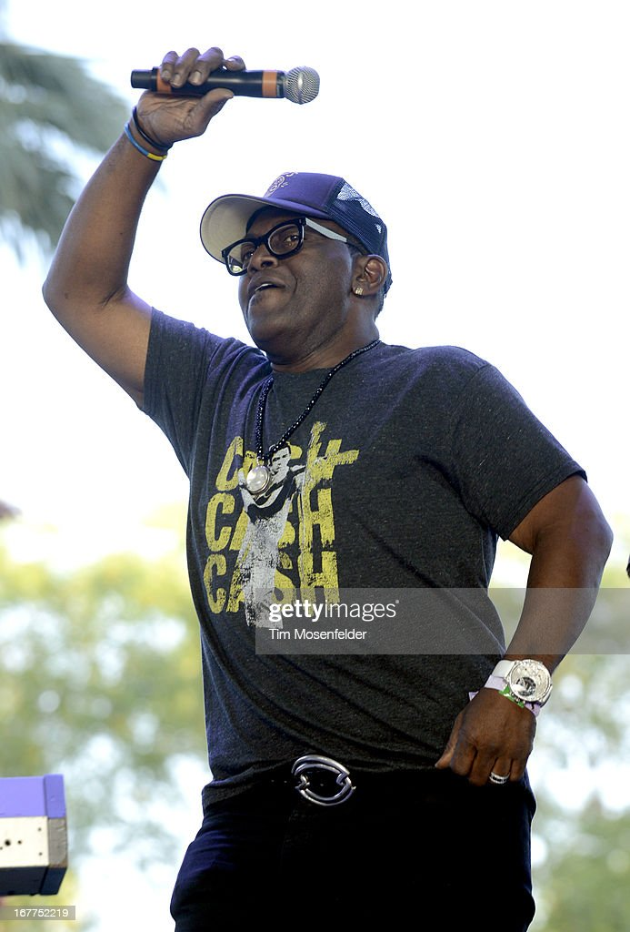 Randy Jackson introduces Charlie Pride at the Stagecoach Music Festival at the Empire Polo Grounds on April 28, 2013 in Indio, California.