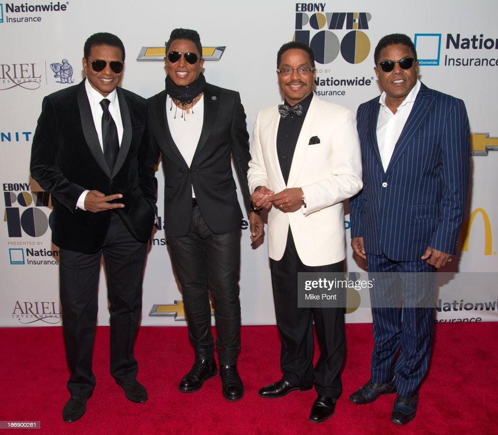 Randy Jackson, <a gi-track='captionPersonalityLinkClicked' href=/galleries/search?phrase=Jermaine+Jackson&family=editorial&specificpeople=204742 ng-click='$event.stopPropagation()'>Jermaine Jackson</a>, <a gi-track='captionPersonalityLinkClicked' href=/galleries/search?phrase=Marlon+Jackson&family=editorial&specificpeople=914632 ng-click='$event.stopPropagation()'>Marlon Jackson</a>, and <a gi-track='captionPersonalityLinkClicked' href=/galleries/search?phrase=Tito+Jackson&family=editorial&specificpeople=216556 ng-click='$event.stopPropagation()'>Tito Jackson</a> attend the 2013 EBONY Power 100 List Gala at Frederick P. Rose Hall, Jazz at Lincoln Center on November 4, 2013 in New York City.