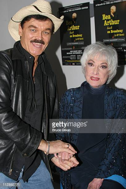 Randy Jones and Bea Arthur during Bea Arthur Back on Broadway A Benefit for The Ali Forney Center at Symphony Space in New York City New York United...