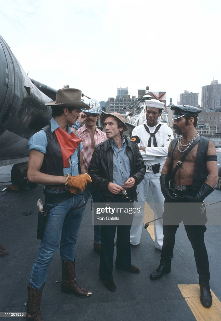 Randy Jones, David Hodo, Alex Briley and Glenn Hughes of American disco group Village People.