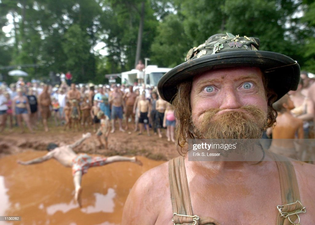 Randy 'LBow' Tidwell poses during the Seventh Annual Summer Redneck Games on July 6 2002 in East Dublin Georgia Thousands of people flock to the...