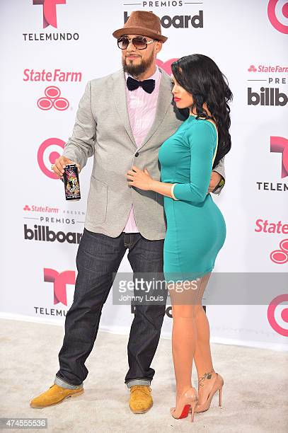 Randy Malcom Martinez of Gente de Zona backstage at 2015 Billboard Latin Music Awards presented by State Farm on Telemundo at Bank United Center on...