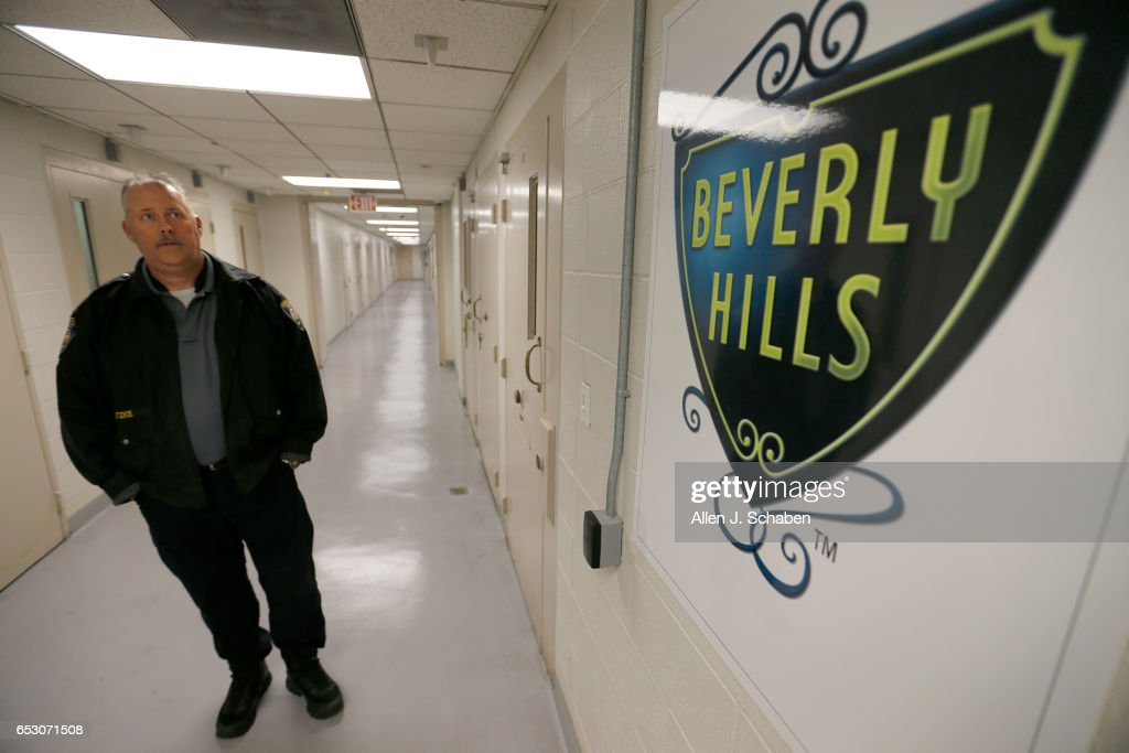 HILLS, CALIF. -- TUESDAY, JANUARY 17, 2017: Randy Neitzke, Beverly Hills Police jail supervisor gives a tour of the Beverly Hills Police Department offers a court commitment ââ¬ÅPay to Stayââ¬Â program, an alternative to serving time in a county jail facility. The sentencing Court must approve the individual to be eligible for the 'pay to stay' program. A jail sentence served in a pay to stay program is viewed as a safe, clean, and secure alternative to county jail. Photo taken in Beverly Hills, Calif., on Jan. 17, 2017.