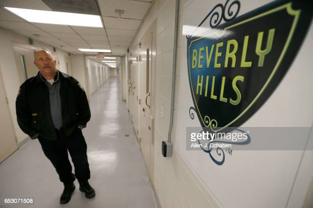 HILLS CALIF TUESDAY JANUARY 17 2017 Randy Neitzke Beverly Hills Police jail supervisor gives a tour of the Beverly Hills Police Department offers a...