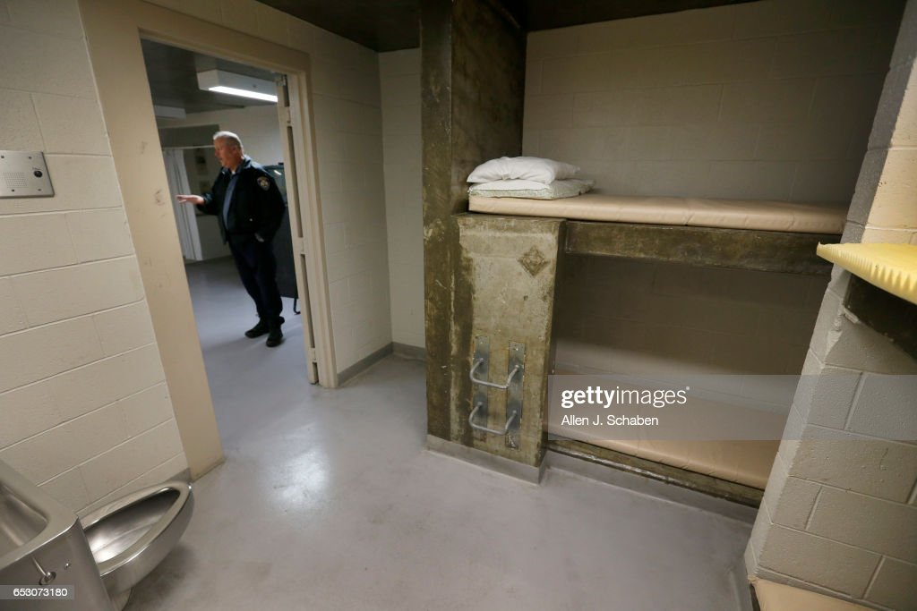 HILLS, CALIF. -- TUESDAY, JANUARY 17, 2017: Randy Neitzke, Beverly Hills Police jail supervisor, offers a view of the men's pay to stay jail cell at the Beverly Hills Police Jail. The Beverly Hills Police Department offers a court commitment ââ¬ÅPay to Stayââ¬Â program, an alternative to serving time in a county jail facility. The sentencing Court must approve the individual to be eligible for the 'pay to stay' program. A jail sentence served in a pay to stay program is viewed as a safe, clean, and secure alternative to county jail. Photo taken in Beverly Hills, Calif., on Jan. 17, 2017.