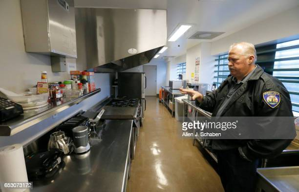 HILLS CALIF TUESDAY JANUARY 17 2017 Randy Neitzke Beverly Hills Police jail supervisor shows the kitchen where pay to stay individuals can cook the...