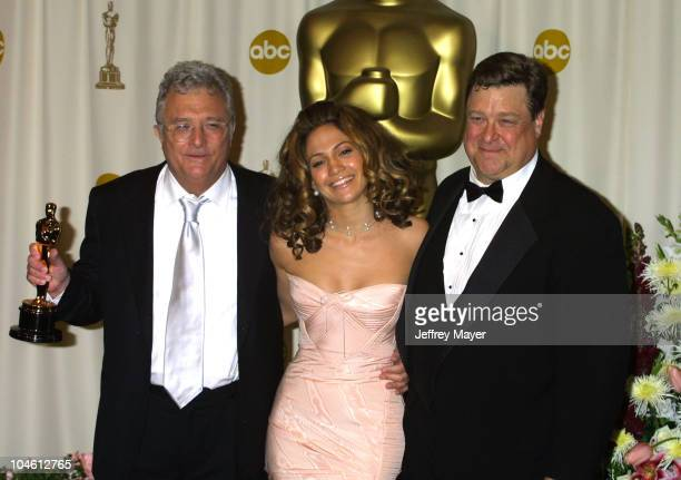 Randy Newman Jennifer Lopez John Goodman during The 74th Annual Academy Awards Press Room at Kodak Theater in Hollywood California United States