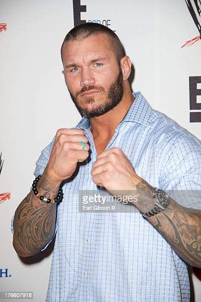 Randy Orton attends the WWE SummerSlam VIP Party at Beverly Hills Hotel on August 15 2013 in Beverly Hills California