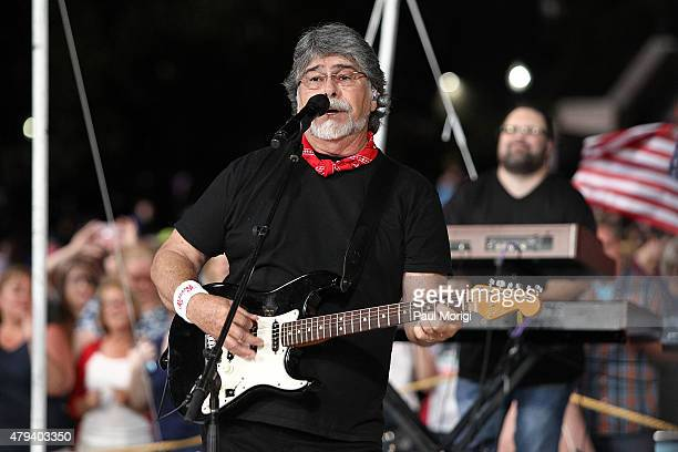 Randy Owen of the band Alabama performs at A Capitol Fourth 2015 Independence Day Concert dress rehearsals on July 3 2015 in Washington DC