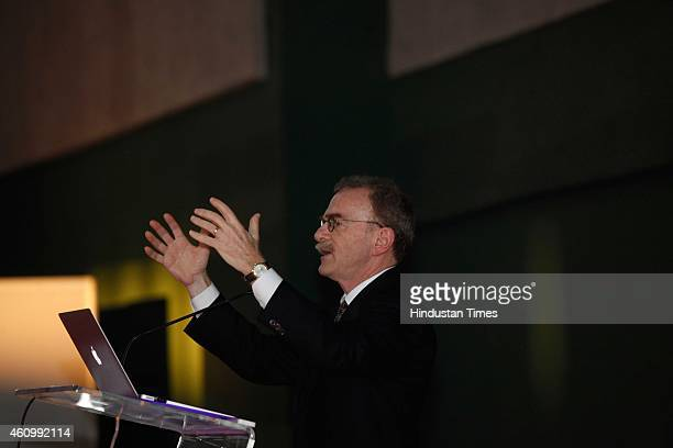 Randy Schekman Nobel Prizewinning American cell biologist at the University of California during the 102nd Indian Science Congress at Kalina...