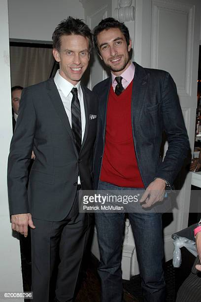 Randy Scott and Angelo Peruzzi attend Celebrate Valentines Day with Patrick McMullan Ally Hilfiger Izzy Gold For Cocktails Love at Kiss Fly on...