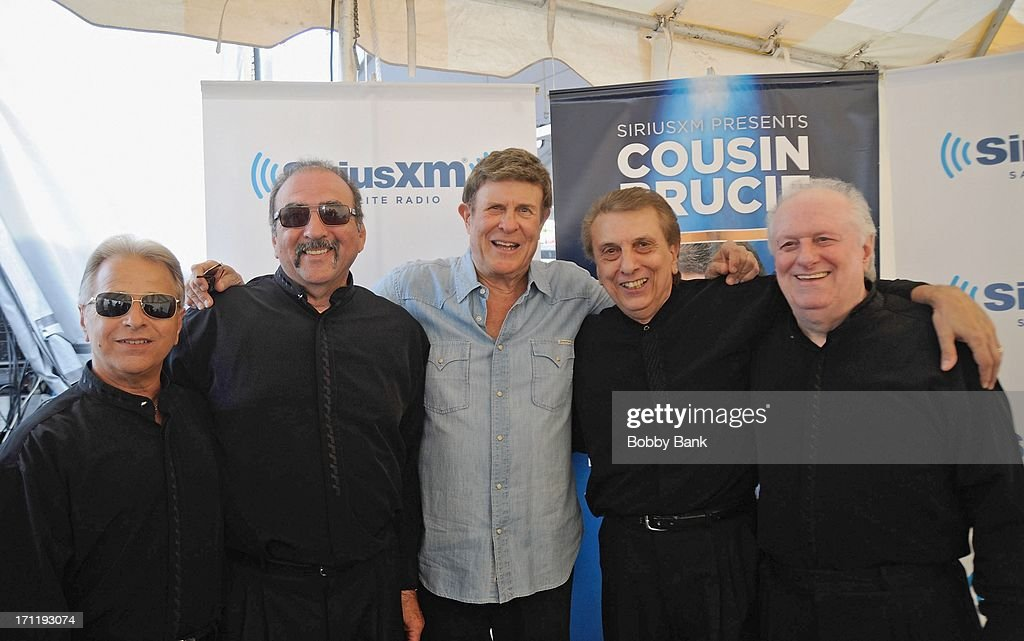 Randy & The Rainbows and Bruce Morrow attend the Cousin Brucie's First Annual Palisades Park Reunion Presented By SiriusXM at State Fair Meadowlands on June 22, 2013 in East Rutherford, New Jersey.