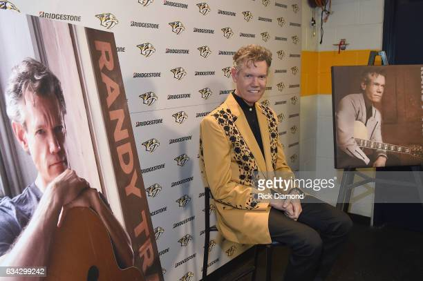 Randy Travis backstage during 1 Night 1 Place 1 Time A Heroes Friends Tribute to Randy Travis at Bridgestone Arena on February 8 2017 in Nashville...