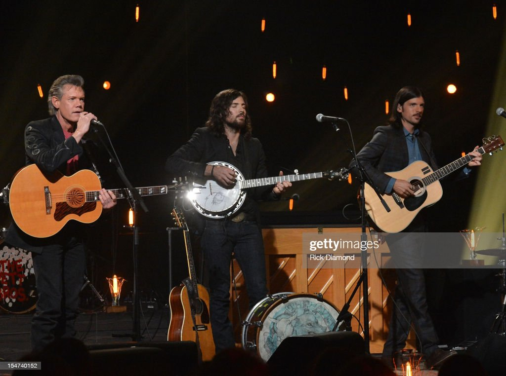 Randy Travis, Scott Avett and Seth Avett perform during CMT Crossroads: The Avett Brothers And Randy Travis tape at The Factory, Liberty Hall in Franklin, Tennessee on October 24, 2012 The Avett Brothers And Randy Travis airs only on CMT November 23rd 2012