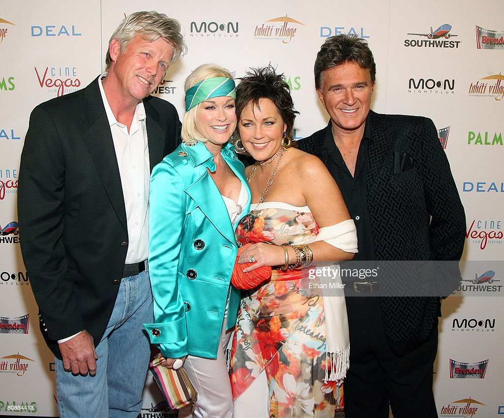 Randy White, country music artist Lorrie Morgan, country music artist Kelly Lang and her husband, country music artist T.G. Sheppard, arrive at the world premiere of the movie 'Deal' at the Brenden Theatres inside the Palms Casino Resort April 24, 2008 in Las Vegas, Nevada.