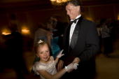 Randy Wilson dances with his youngest Kaalyn on May 16 2008 in Colorado Springs Colorado The annual FatherDaughter Purity Ball founded in 1998 by...