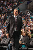 Randy Wittman head coach of the Washington Wizards during the game against the Charlotte Hornets at the Time Warner Cable Arena on March 9 2015 in...