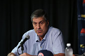 Randy Wittman of the Washington Wizards at a press conference on June 26 2015 at the Verizon Center in Washington DC NOTE TO USER User expressly...